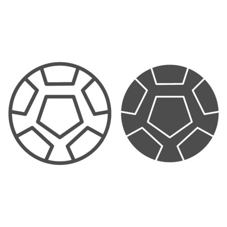 Soccer ball line and glyph icon. Football ball vector illustration isolated on white. Game ball outline style design, designed for web and app. Eps 10.