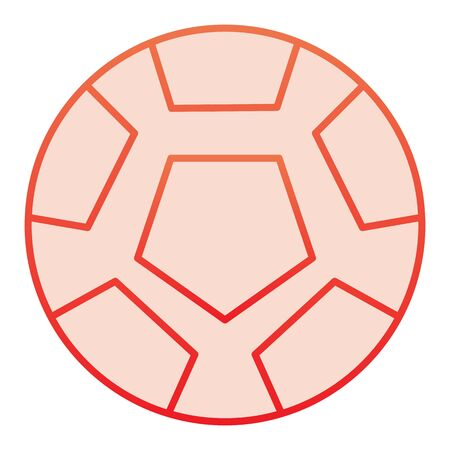 Soccer ball flat icon. Football ball red icons in trendy flat style. Game ball gradient style design, designed for web and app.