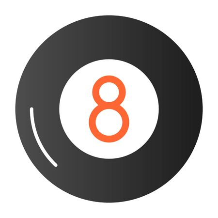 Billiards flat icon. Billiard ball color icons in trendy flat style. Eight ball gradient style design, designed for web and app.
