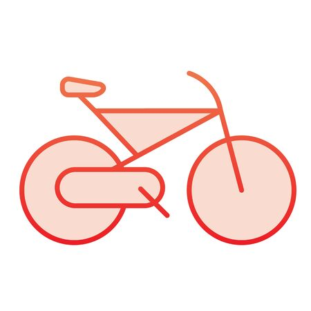 Bicycle flat icon. Cycle red icons in trendy flat style. Sport activity gradient style design, designed for web and app. Ilustracja
