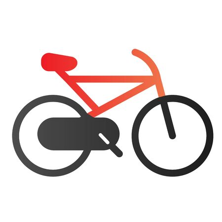 Bicycle flat icon. Cycle color icons in trendy flat style. Sport activity gradient style design, designed for web and app. Ilustracja
