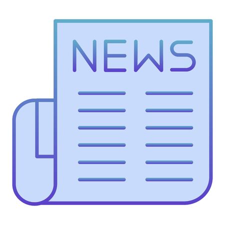 Newspaper flat icon. News blue icons in trendy flat style. Publication gradient style design, designed for web and app. Eps 10.