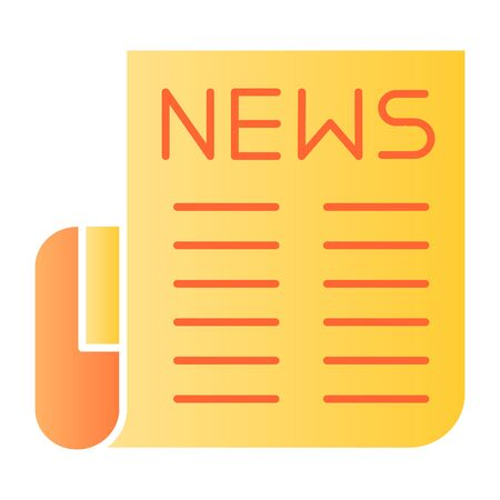Newspaper flat icon. News color icons in trendy flat style. Publication gradient style design, designed for web and app. Eps 10.
