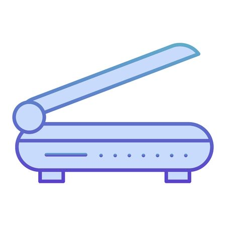 Scanner flat icon. Document scan blue icons in trendy flat style. Copy equipment gradient style design, designed for web and app. Eps 10.  イラスト・ベクター素材