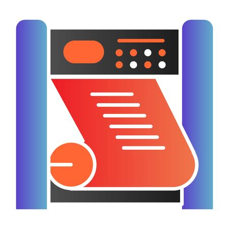 Plotter printing flat icon. Large format printer color icons in trendy flat style. Printing device gradient style design, designed for web and app. Eps 10.