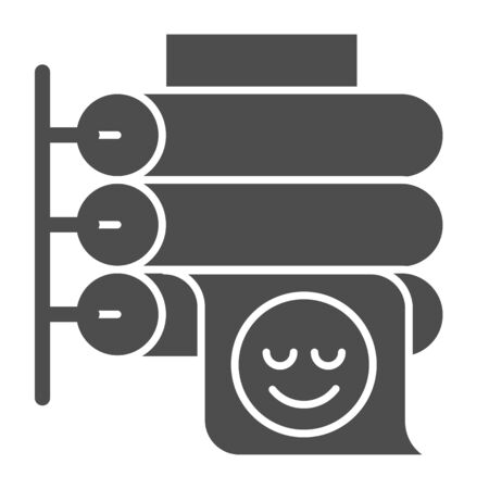 Printing press solid icon. Large format printer vector illustration isolated on white. Placard printing glyph style design, designed for web and app.