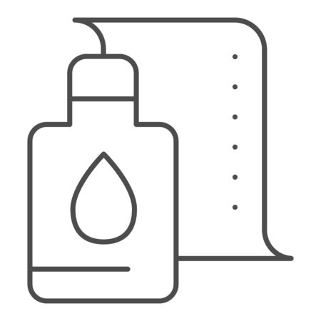 Printer cartridge thin line icon. Printer paint can vector illustration isolated on white. Ink paint bottle outline style design, designed for web and app.