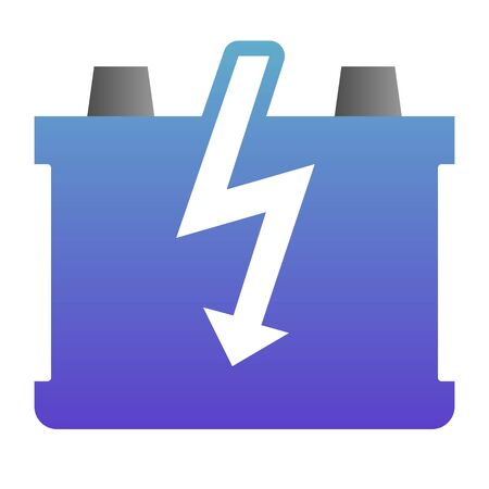 Car battery flat icon. Charge battery color icons in trendy flat style. Accumulator gradient style design, designed for web and app.