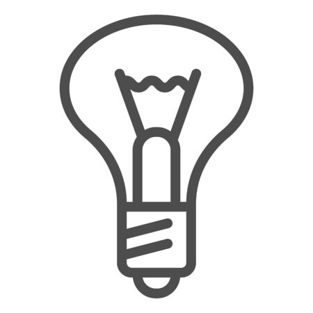 Light bulb line icon. Lamp vector illustration isolated on white. Illumination outline style design, designed for web and app