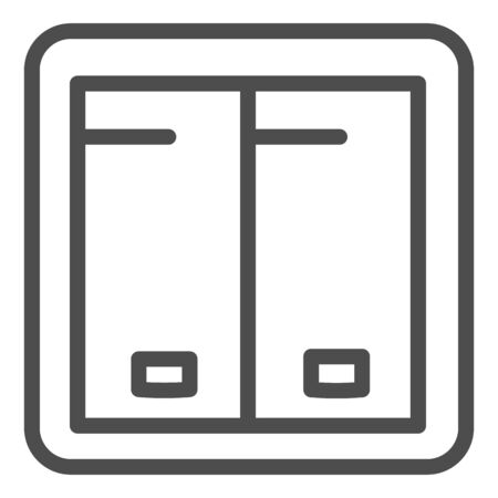 Light switch line icon. Electricity toggle vector illustration isolated on white. Electric turn on outline style design, designed for web and app.