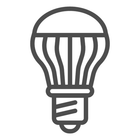 Energy saving light bulb line icon. Energy efficient lamp vector illustration isolated on white. Electricity saving lamp outline style design, designed for web and app. Imagens - 132079111