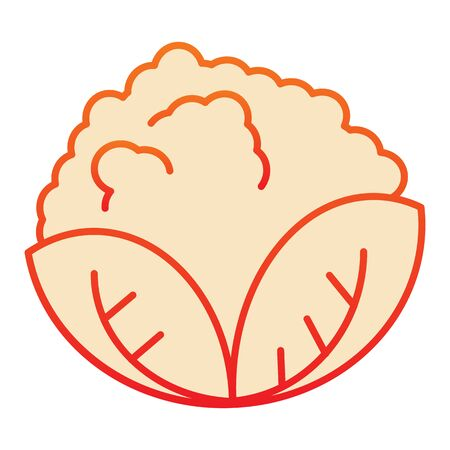 Cabbage flat icon. Vegan food orange icons in trendy flat style. Vegetable gradient style design, designed for web and app.
