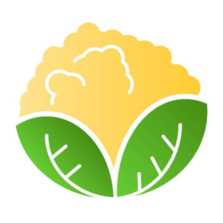 Cabbage flat icon. Vegan food color icons in trendy flat style. Vegetable gradient style design, designed for web and app.