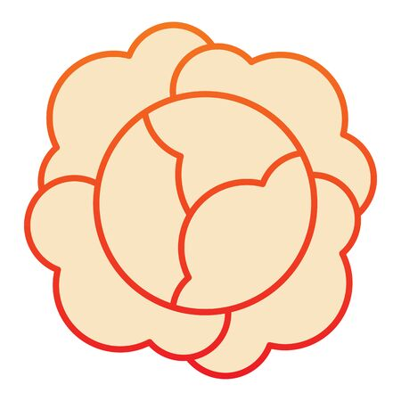 Cabbage flat icon. Vitamin food orange icons in trendy flat style. Vegetable gradient style design, designed for web and app.
