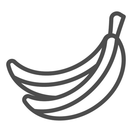 Banana line icon. Fruit vector illustration isolated on white. Healthy food outline style design, designed for web and app.
