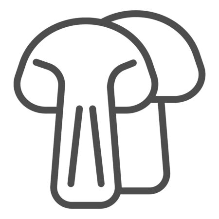 Mushroom line icon. Vegan food vector illustration isolated on white. Vegetarian food outline style design, designed for web and app.
