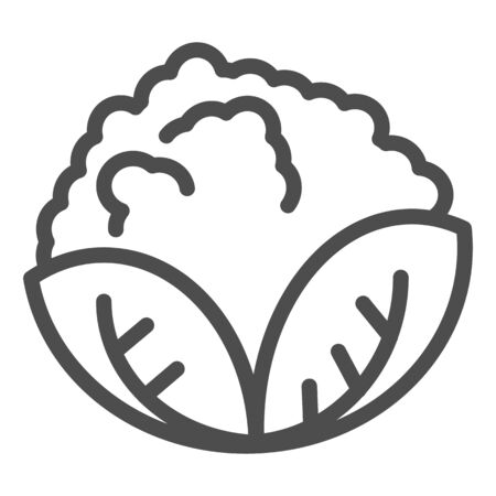 Cabbage line icon. Vegan food vector illustration isolated on white. Vegetable outline style design, designed for web and app