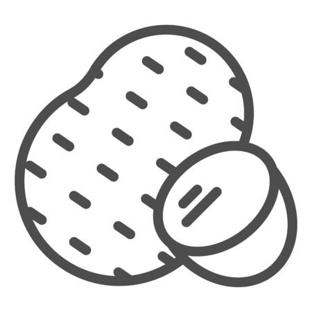 Potato line icon. Agriculture vector illustration isolated on white. Vegetable outline style design, designed for web and app.