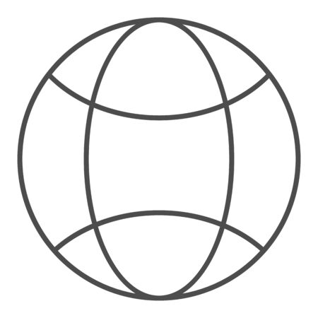 Global network thin line icon. Internet worldwide vector illustration isolated on white. Planet outline style design, designed for web and app. 写真素材 - 132097752