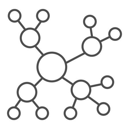 Network thin line icon. Internet connection vector illustration isolated on white. Network concept outline style design, designed for web and app. 向量圖像