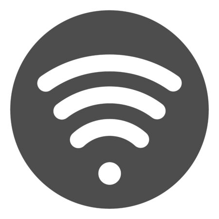 Wi fi solid icon. Wireless network vector illustration isolated on white. Wireless internet glyph style design, designed for web and app.