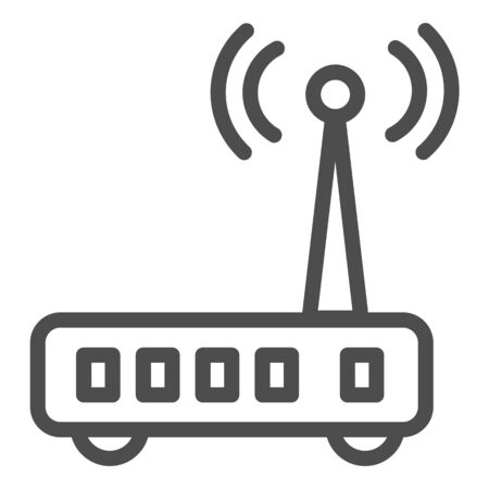 Router line icon. Wi fi vector illustration isolated on white. Wireless network outline style design, designed for web and app. Reklamní fotografie - 132076792