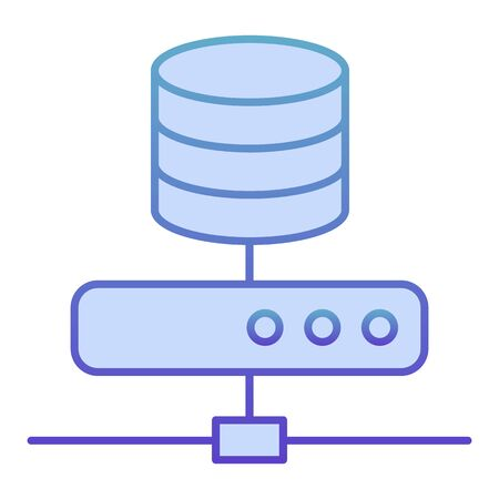 Data storage flat icon. Computer server blue icons in trendy flat style. Database gradient style design, designed for web and app. Eps 10.