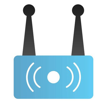 Wireless router flat icon. Wi fi network color icons in trendy flat style. Wireless internet gradient style design, designed for web and app. Eps 10. Stock Illustratie