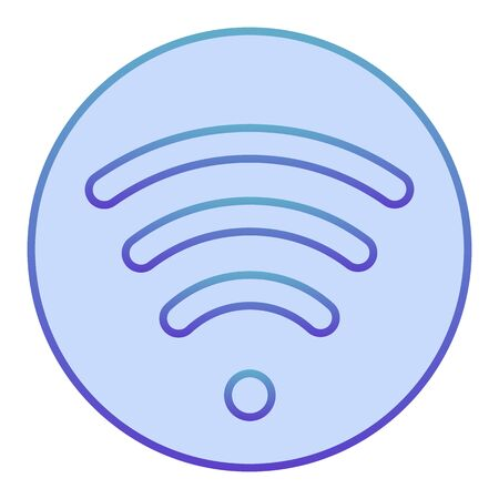 Wi fi flat icon. Wireless network blue icons in trendy flat style. Wireless internet gradient style design, designed for web and app. Eps 10. Çizim
