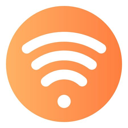 Wi fi flat icon. Wireless network color icons in trendy flat style. Wireless internet gradient style design, designed for web and app. Eps 10.
