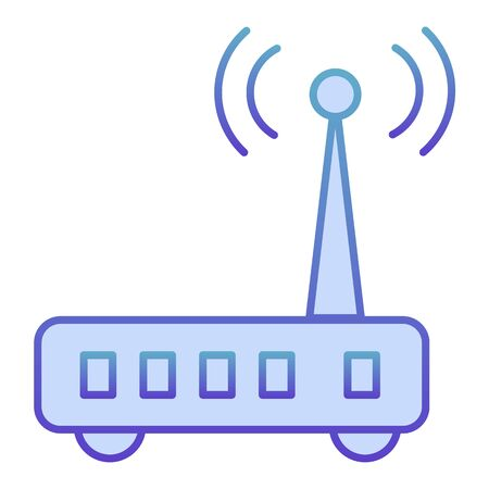 Router flat icon. Wi fi blue icons in trendy flat style. Wireless network gradient style design, designed for web and app. Eps 10. Stock Illustratie