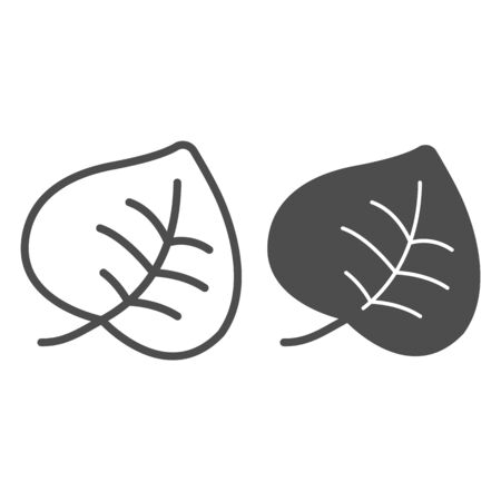 Leaf line and glyph icon. Tree foliage vector illustration isolated on white. Plant outline style design, designed for web and app.