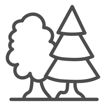 Forest line icon. Trees vector illustration isolated on white. Nature outline style design, designed for web and app.