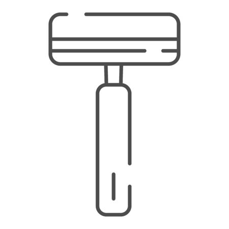 Mens razor thin line icon. Safety razor vector illustration isolated on white. Blade outline style design, designed for web and app.