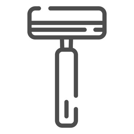 Mens razor line icon. Safety razor vector illustration isolated on white. Blade outline style design, designed for web and app.