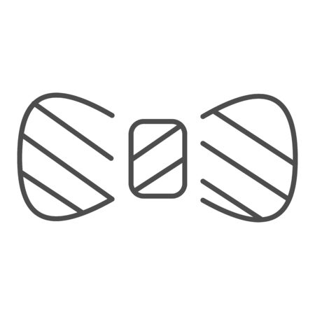 Bow tie thin line icon. Necktie knot vector illustration isolated on white. Mens accessory outline style design, designed for web and app. Иллюстрация