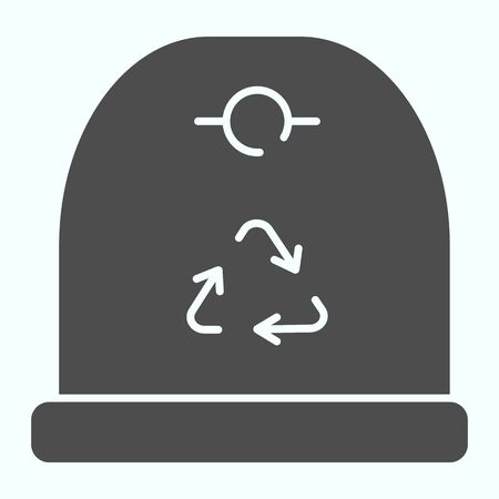 Recycle container solid icon. Recycle garbage vector illustration isolated on white. Bin container glyph style design, designed for web and app.