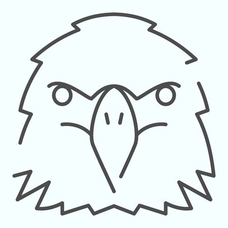 Eagle head thin line icon. Birds head vector illustration isolated on white. Powerful looking hawk outline style design, designed for web and app. Eps 10. Vettoriali