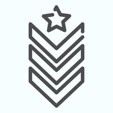 Militärische Schulterklappen Symbol Leitung. Armee-Rang-Vektor-Illustration isoliert auf weiss. Design im Stil des Militärabzeichens, das für Web und App entwickelt wurde. Folge 10.