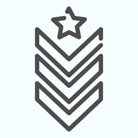 Military epaulet line icon. Army rank vector illustration isolated on white. Military badge outline style design, designed for web and app. Eps 10.