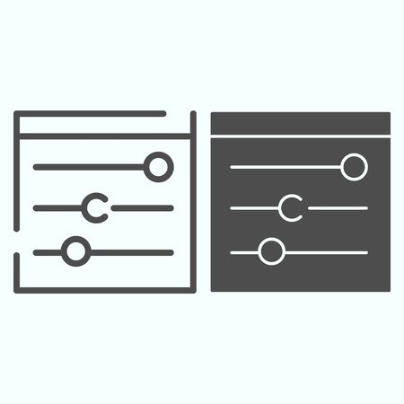 Equalizer line and solid icon. Technical settings vector illustration isolated on white. Settings in devise outline style design, designed for web and app.
