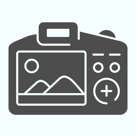 Camera Display solid icon. Display of camera vector illustration isolated on white. Photo camera screen glyph style design, designed for web and app.