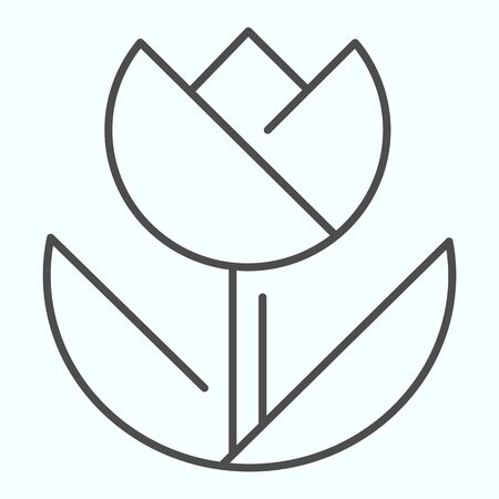 Macro thin line icon. Macro photography vector illustration isolated on white. Flower in macro outline style design, designed for web and app.