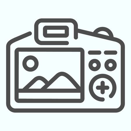 Camera Display line icon. Display of camera vector illustration isolated on white. Photo camera screen outline style design, designed for web and app.