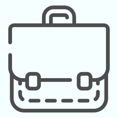 Portfolio line icon. School bag vector illustration isolated on white. Suitcase outline style design, designed for web and app. Eps 10.