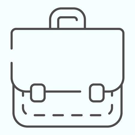 Portfolio thin line icon. School bag vector illustration isolated on white. Suitcase outline style design, designed for web and app. Eps 10. Illusztráció