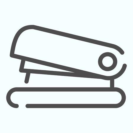 Icône de ligne d'agrafeuse. Agrafeuse pour l'illustration vectorielle de documents isolée sur blanc. Un instrument pour la conception de style de contour de feuilles de fixation, conçu pour le Web et l'application. Eps 10.