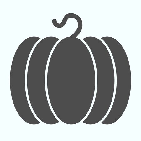 Pumpkin solid icon. Big vegatable plant harvest. Autumn season vector design concept, glyph style pictogram on white background, use for web and app.