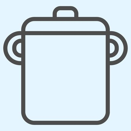 Pot line icon. Saucepan for brewing food.