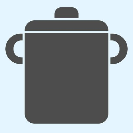 Pot solid icon. Saucepan for brewing food. Иллюстрация